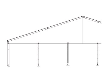 Solar Systems clear span tent
